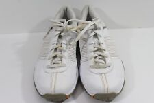 Nike Womens Size 8.5M White with Gold Trim Golf Shoes Lace Up 335938-121 (N)