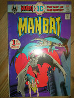 MAN-BAT # 1 BATMAN GERRY CONWAY STEVE DITKO 1976 25c BRONZE AGE DC COMIC BOOK