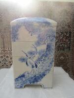 ANTIQUE JAPANESE P0RCELAIN 5 PIECE STACK BOX, UNIQUE REPAIR. PRE 1900
