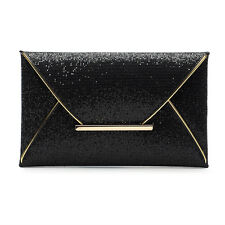 793b275284ea New Women Glitter Sequins Handbag Party Evening Envelope Clutch Bag Wallet  Purse