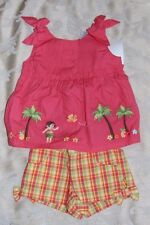 NWT Girls 3-6  M GYMBOREE Aloha Sunshine Shirt shorts outfit 3-6M