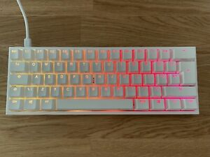 Ducky One2 Mini RGB Gaming Keyboard - White, ISO Layout, USB-C. Cherry MX Brown.