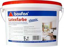 (6,48€/1l) Baufan Latexfarbe classic 2,5 Liter