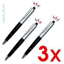 Lot 3x Shocking Electric Shock Novelty Metal Pen Prank Trick Joke Gag Funny Gift