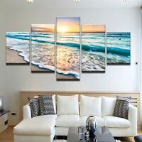 5Pcs Meer Welle Blick Malerei Großer Wand Natur Art Modern Ocean Heim Café Dekor