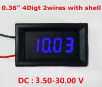 DC 3.50-30V 4 Digital LED Volt Voltage Meter Voltmeter 5v 12v 24v Car Battery B