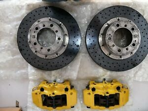 Porsche 911 996 997 Turbo S ceramic Rear Brake kit .(Calipers Rotors Set Brembo)