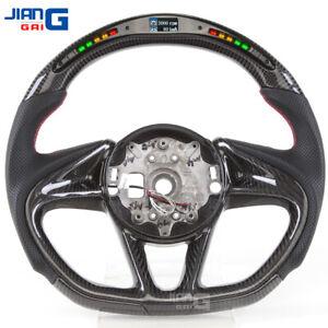 JiangGai LED Carbon Fiber Steering Wheel Fit For McLaren 720 540 570 600LT 12c