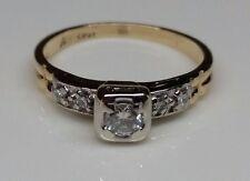 Pretty Vintage  14k Two~Tone  Ring .22 Total Carat  100% Natural  Diamonds