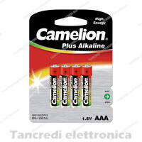 BATTERIA MINISTILO CAMELION 1.5V LR03 / AAA PILE LONGLIFE ALCALINE SENSORI