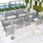 4/8pcs Furniture Rattan Chair&table Patio Set Sofa Sectional Garden Backyard