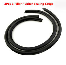 2Pcs B Pillar Car Door Seal Strip Rubber Sealing Strips Rear Edge Trim Windproof