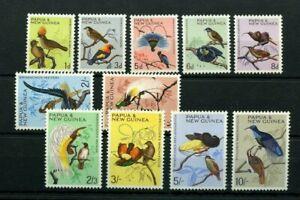 Papua New Guinea 1964 Birds SG61-71 MLH stamp lot