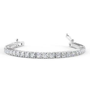 3Ct Round Diamond Claw Set Tennis Bracelet UK Hallmarked, White Gold