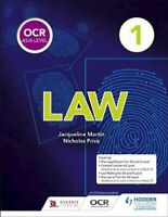 OCR AS/A Level Law Book 1 by Jacqueline Martin 9781510401761 | Brand New