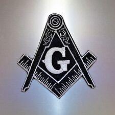 Masonic Patch — Iron On Badge Embroidered Motif — Mason Freemason Compass Square