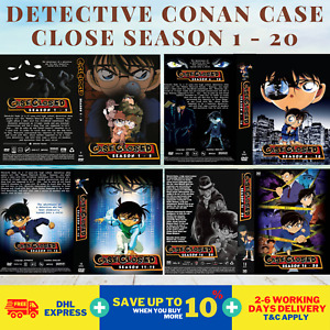 ANIME CASE CLOSED (DETECTIVE CONAN) SEA 1-20 DVD COMPLETE Box Set DHL FedEx