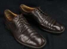Salvatore Ferragamo Studio Brown Leather Oxfords Dress Shoes US Men's 10 GUC