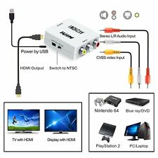 Mini RCA AV to HDMI Adapter Converter Composite AV2HDMI Converter 1080P HDTV DVD