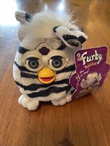 "Vintage Furby Buddies Plush Toy ZEBRA Stripe ""Light Please"" 1999 Tiger Elec."