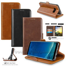 Samsung Galaxy S8+/S8 Active Leather Flip Wallet Case KickStand Pouch Card Cover