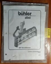 """Buhler Allied 96"""" Snowblower Owner's Operator's & Parts Manual FK330 2005"""