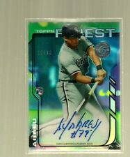 2014 Topps Finest-Refractor-Autograph-RC- Jose Abreu-White Sox-Limited 10 of 10-