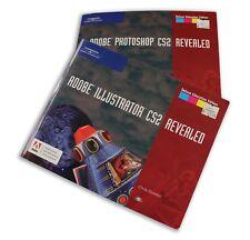 Set of NEW Adobe Photoshop & Illustrator CS2 Revealed Books w/ Interactive CD's