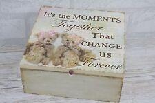 Shabby Chic memoria recuerdo caja en el pecho es los momentos juntos Peluche M SG1968