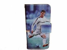 iPhone 5g / 5s Football Real Madrid Ronaldo Case Flip Magnetic Fastening UK Sell