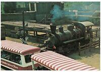 "Universal Studios CA Glamor Tram in Path of Runaway Train Postcard 4x6"""