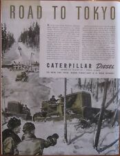Caterpillar Bull Dozers Forge the Road to Tokyo WWII Ad