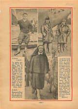 Canoë la Belle Etoile Rameur Marcel Bardiaux France / Italia 1931 ILLUSTRATION