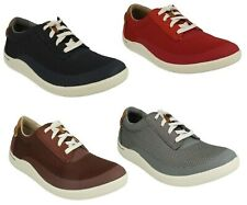 MENS CLARKS LACE UP LIGHTWEIGHT SPORTS WALKING TRAINERS SHOES SIZE MAPPED EDGE