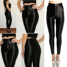 NEW WOMENS LADIES AMERICAN APPAREL STYLE SHINY DISCO PANTS TROUSERS UK SIZE 6-14