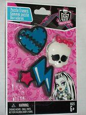 Monster High Puzzle Erasers Heart Skull Lightening Bolt Frankie Stein Crazeraser