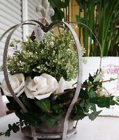 Blumentopf Keramik in creme-antik Rustikal Shabby Durchmesser innen 10cm