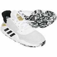 NIB Mens Adidas Pro Bounce 2019 Low EF0472 Basketball White/Black Shoes Sneakers