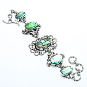 """Resplendent Abalone Shell Handmade Ethnic Style  Jewelry Bracelet 7-8"""" LL"""