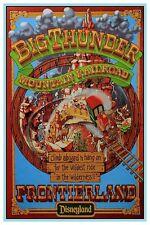 "DISNEY COLLECTOR'S POSTER 12"" X 18"" - BIG THUNDER MOUNTAIN DISNEYLAND"