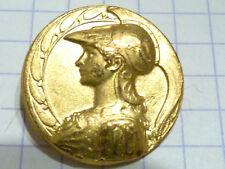 bouton ancien collection Déesse Athena metal doré button knôpfe bottone