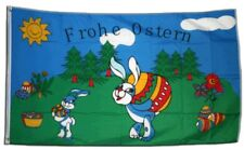 Fahne Frohe Ostern Flagge Oster Hissflagge 90x150cm