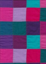 "30"" X 44"" of  Bright, Colorful Solids  Machine Stitched Patchwork Fabric"