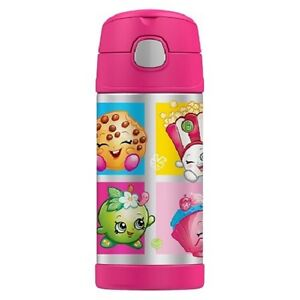 Shopkins Thermos Shopkins Funtainer Stainless Steel Bottle - Pink (12oz)
