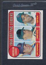 1969 Topps #001 AL Batting Leaders EX *107