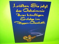 Williams TALES OF THE ARABIAN NIGHTS Orig. German Fold-Out Pinball Machine Flyer