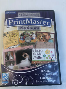 Printmaster Platinum 2012 Brøderbund Encore Dvd Rom Win Mac 7 Vista XP 32960-WRP