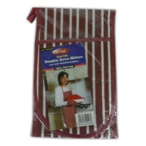 Double Oven Mitten With Heat Resistant Padding (Assorted colours)