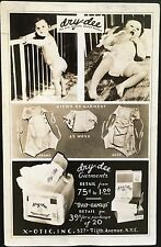 Advertising Real Photo Blank Back ~ dry~dee Garments Diapers X~OTIC INC NY City