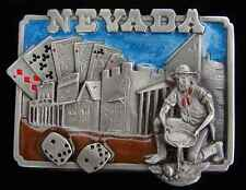 NEVADA STATE BELT BUCKLE VERY NICELY DONE NEW! BUCKLES